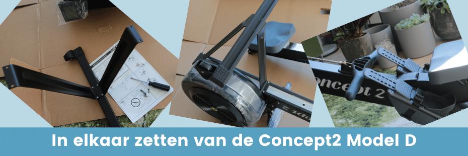 Concept2 review: In elkaar zetten van de Concept2 model D