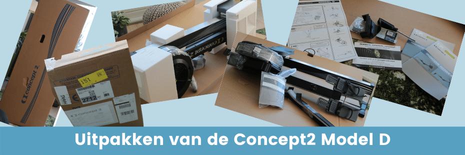 Concept2 review: Uitpakken van de Concept2 Model D