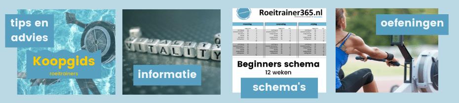Roeitrainer - roeimachine: tips en advies, schema's en oefeningen